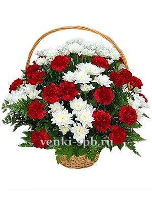 Корзина из живых цветов №2 - Фото 1 | Компания «Венок»
