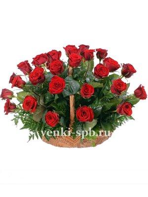 Корзина из живых цветов №3 - Фото 1 | Компания «Венок»