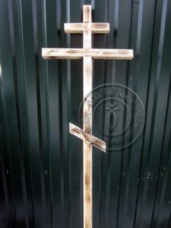 Крест деревянный из сосны обжиг К1