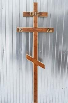 Крест деревянный с резьбой из сосны К7