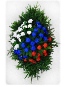 Ритуальный венок из живых цветов № 1