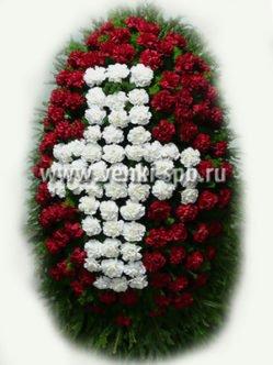 Ритуальный венок из живых цветов № 10