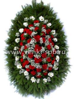 Ритуальный венок из живых цветов № 12