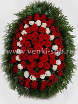 Ритуальный венок из живых цветов № 13