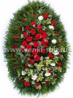 Ритуальный венок из живых цветов № 15