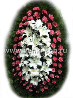 Ритуальный венок из живых цветов № 16