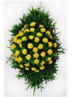 Ритуальный венок из живых цветов № 3