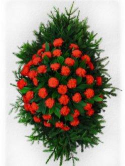 Ритуальный венок из живых цветов № 4