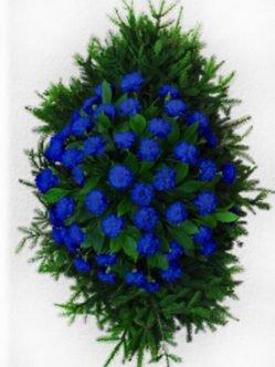 Ритуальный венок из живых цветов № 5
