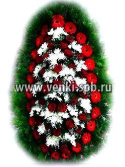Ритуальный венок из живых цветов № 9