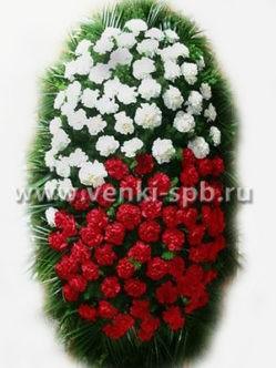 Ритуальный венок из живых цветов №6