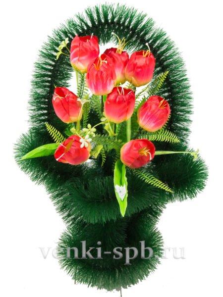 Ажурная с тюльпанами - Фото 1 | Компания «Венок»