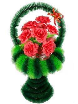 """Ритуальная корзина из искусственных цветов """"Ваза Большая 2"""""""