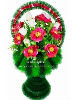 """Ритуальная корзина из искусственных цветов """"Ваза Большая Весна"""""""