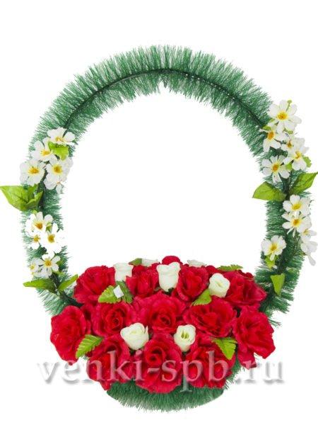 Корзина с розами - Фото 1 | Компания «Венок»