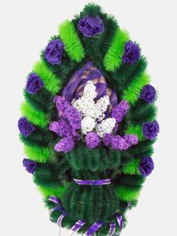 Ритуальный венок из искусственных цветов Ваза с сиренью