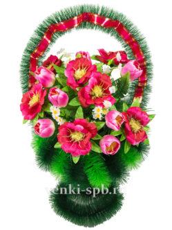 Корзина на похороны Весна