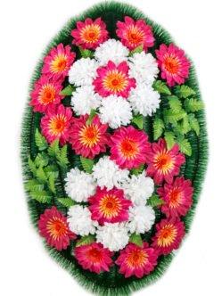 Ритуальный венок из искусственных цветов Лаура
