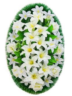 Ритуальный венок с белыми цветами Иванко купить в спб