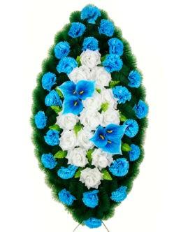 Венок на похороны из искусственных цветов