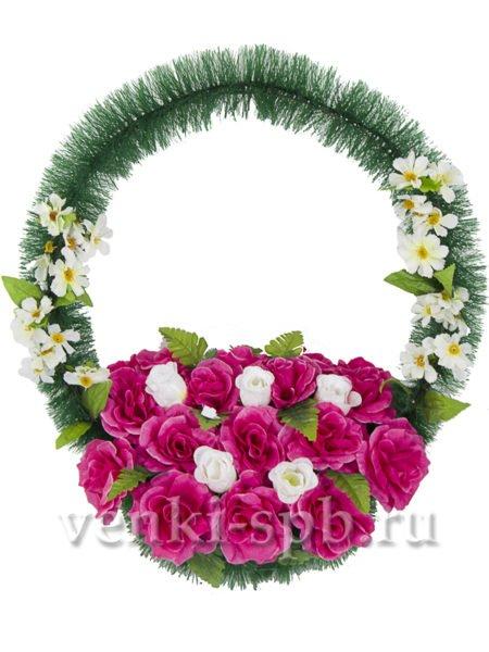 Корзина с розами - Фото 2 | Компания «Венок»