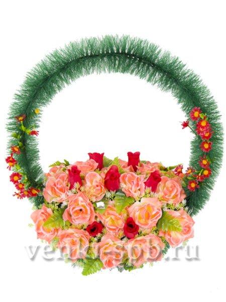 Корзина с розами - Фото 3 | Компания «Венок»