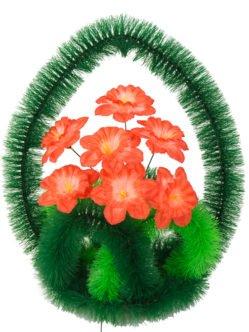 """Ритуальная корзина из искусственных цветов """"Купол"""""""