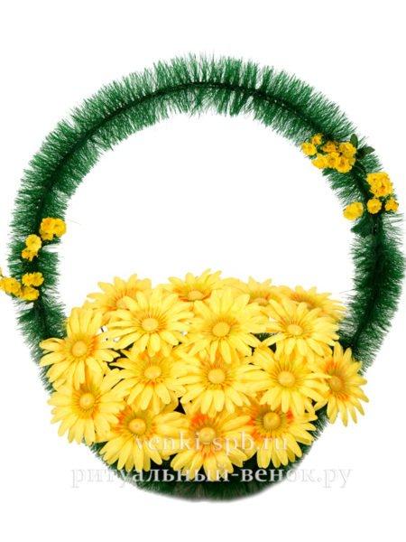 Ритуальная корзина Солнечный круг - Фото 1   Компания «Венок»