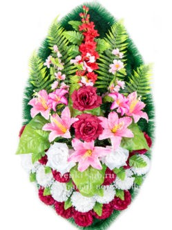 Венок из искусственных цветов Лесная фея