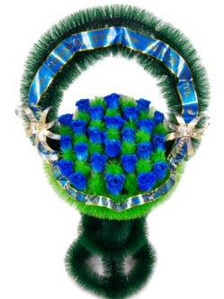 """Ритуальная корзина из искусственных цветов """"Медуница"""""""