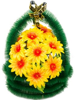 """Ритуальная корзина из искусственных цветов """"Прима"""""""