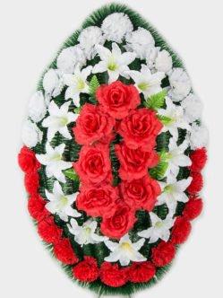 Венок на похороны из искусственных цветов Русич
