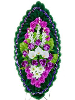 Солярис 2 - ритуальный венок из искусственных цветов