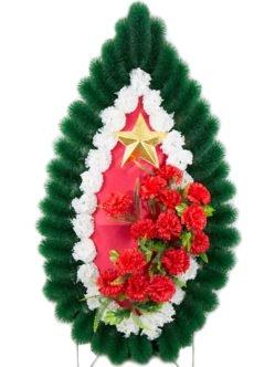 Военный ритуальный венок из искусственных цветов