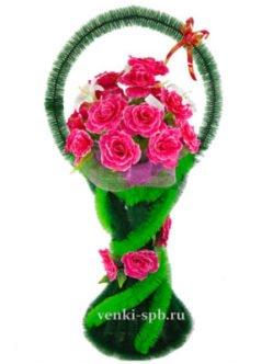 ритуальные корзины из искусственных цветов