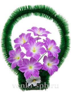 """Корзина из искусственных цветов """"Лукошко"""""""