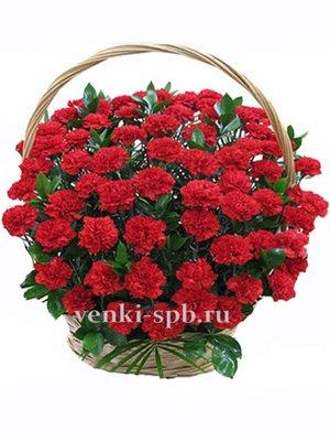 Корзина из живых цветов №6 - Фото 1 | Компания «Венок»