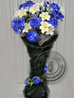 """Ритуальная корзина из искусственных цветов """"Катрин"""""""