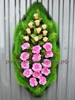 """Траурный венок на похороны из искусственных цветов """"Оазис 2"""""""