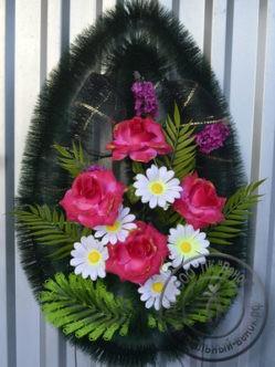 Венок из искусственных цветов Полесье с розами