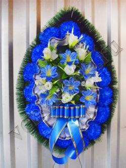 """Траурный венок на похороны из искусственных цветов """"Онега"""""""