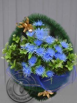 """Ритуальная корзина из искусственных цветов """"Бабочка"""""""