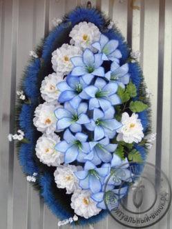 Ритуальный венок из искусственных цветов Алиса