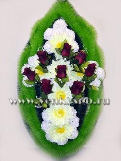 """Траурный венок на похороны из искусственных цветов """"Дымский"""""""