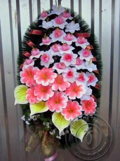 """Траурный венок на похороны из искусственных цветов """"Ванесса"""""""