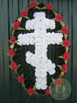 Траурный православный венок на похороны большого размера