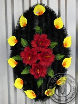 """Ритуальный венок из искусственных цветов """"Агат"""""""