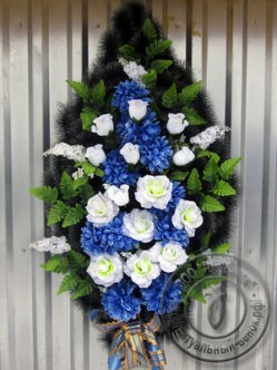 """Венок """"Серенада"""" из искусственных цветов"""