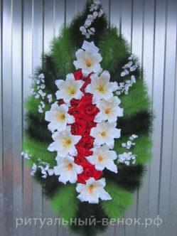 Ритуальный венок Царевна из искусственных цветов в спб