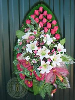 Ритуальный венок из искусственных цветов Эльза